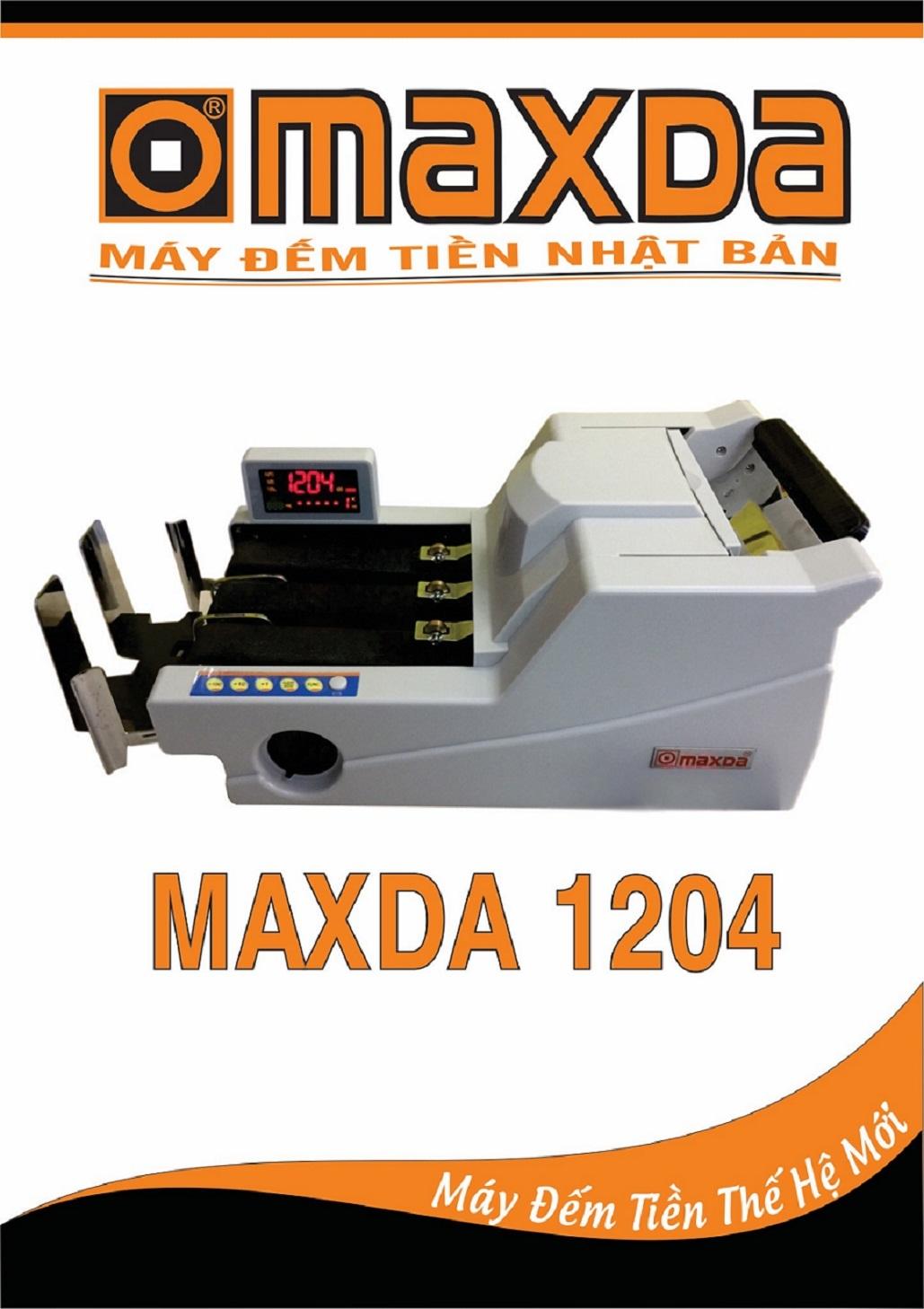 máy đếm tiền maxda 1204