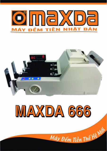 máy đếm tiền maxda 666